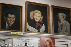 A painting of Audrey Williams, Hank's first wife and Hank Junior's mother.  This…