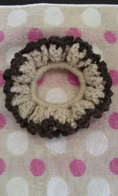 毛糸でかんたんシュシュの作り方