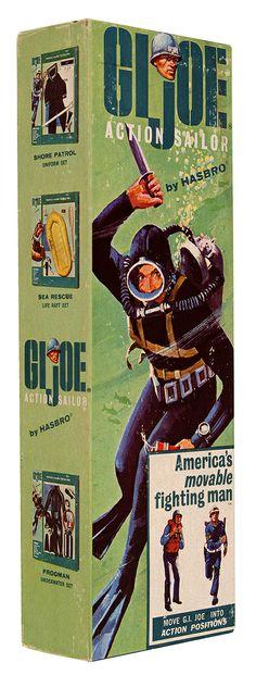 GI Joe Action Soldier Frogman Underwater Set (box art) by Hasbro