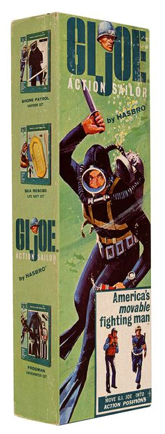 GI Joe Action Soldier Frogman Underwater Set (box art) by Hasbro