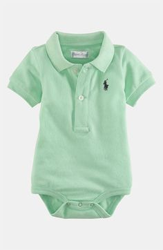Ralph Lauren Polo Bodysuit (Infant) available at #Nordstrom