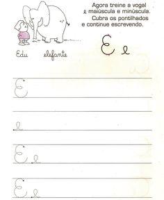 Ensinando a letra cursiva Olá! Na fase de alfabetização a letra cursiva gera uma grande expectativa nos pais e nas crianças; porém a...