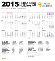 Malaysia 2015 Long Weekends with Public Holiday Us Holiday Calendar, National Holiday Calendar, 2015 Calendar, Yearly Calendar, Calendar Printable, Philippine Holidays, Annual Leave, Long Holiday, Holiday Ideas