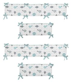 Sweet Jojo Designs Earth and Sky Collection Crib Bumper
