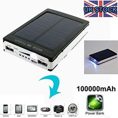 100000mah solar power bank