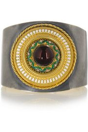 Fred Leighton Silver-plated 18-karat gold multi-stone cuff. Love this!