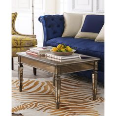 Hailey Mirrored Coffee Table (49.415 RUB) ❤ liked on Polyvore featuring home, furniture, tables, accent tables, handmade furniture, handmade coffee table, grey table, eglomise furniture and hand made furniture