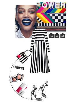 """you are art"" by ozgeelfaba ❤ liked on Polyvore featuring Valentino, Betsey Johnson, Pierre Hardy, Chanel and Clinique"