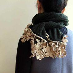 Lin total fashion place blog | mina perhonen forest parade カシミヤマフラー green