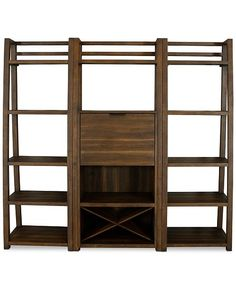 Bookcase Shelves, Bookcases, River House Decor, Wine Bottle Rack, Wall Bar, Wood Surface, Bar Set, Mid Century Design, Contemporary Style