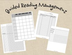 Guided Reading Management forms and other classroom freebies Guided Reading Organization, Guided Reading Groups, Teacher Organization, Teaching Reading, Teaching Ideas, Reading Activities, Kindergarten Reading, Learning, Reading Strategies