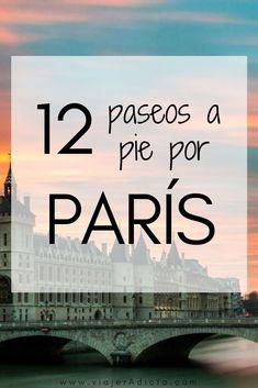 12 walking tours in Paris Places To Travel, Travel Destinations, Places To Visit, Travel Around The World, Around The Worlds, Travel Crafts, Tours, Travel Planner, Disneyland Paris