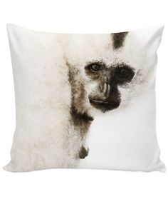 Crested Gibbon Decorative Pillow