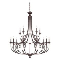 Savoy House Langley 1-650-15 Chandelier - 1-650-15-13