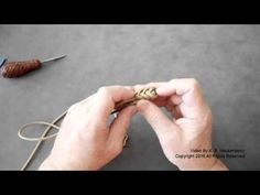How to make a 2 bight Pineapple Knot Lanyard Key fob by Kenn Hockenberry