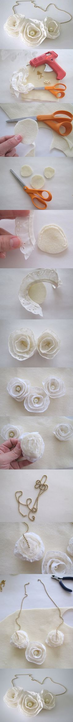 Diy Lace flowers