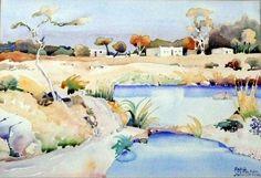 walter battiss paintings - Google Search Artist Painting, Artist Art, Watercolor Paintings, Watercolours, Walter Battiss, Art Diary, South African Artists, Abstract Painters, Art Studies