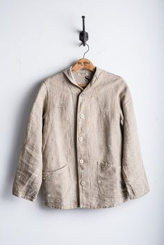 Fortune Goods Linen Artisan Shawl Collar Coat Jacket