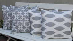 Decorative Throw Pillow Covers Accent Pillows by FestiveHomeDecor, $66.00