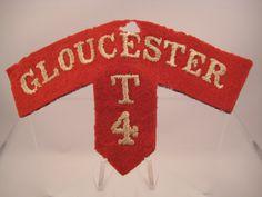 Militaria UK – Title: Cloth Shoulder Title Badge – (City of Bristol)… Navy Air Force, City Of Bristol, Napoleonic Wars, Gloucester, T 4, Scarlet, Badges, British, Military