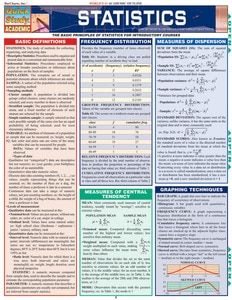 Statistics Equations & Answers (9781423208570) - BarCharts Publishing Inc makers of QuickStudy
