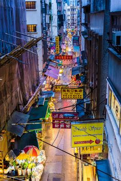 Street in Kowloon, Hong Kong