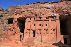 One of the 12 cave churches in Lalibela, Ethiopia