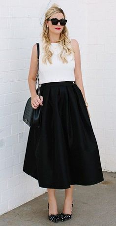 black skirt for holiday party @Caitlin Lindquist / Dash of Darling