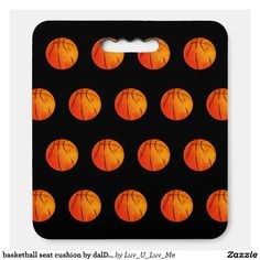 basketball seat cushion by dalDesignNZ - Stadium & Seat Cushions Gift Idea. Stadium Seat Cushions, Stadium Seats, Logo For School, Personalized Gifts For Men, Holiday Cards, Christmas Cards, Christmas Card Holders, Gifts For Him, Fundraising