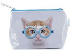 Køb lille Catseye toilettaske, blå kat her - til en skarp pris