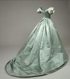 Mint green ball gown, ca. 1860