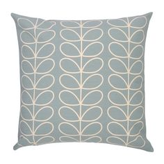 Transform your interior with this luxurious Linear Stem cushion from Orla Kiely. With a repeating stem design in Orla Kiely's signature style with a reflecting reverse, this cushion is perfect for a Blue Room Decor, Decor Home Living Room, Living Room Goals, Living Room Update, Blue Rooms, Living Rooms, Duck Egg Cushions, Scatter Cushions, Duck Egg Blue Interiors
