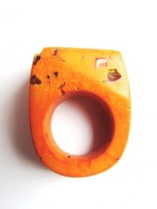 Hewn Orange Carnelian Ring | NOT JUST A LABEL