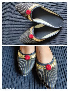 Juttis & Mojaris designer jaipuri jutti Material: Synthetic Sole Material: PVC Fastening & Back Detail: Open Back Pattern: Embellished Multipack: 1 Sizes:  IND-6 (Foot Length Size: 24.2 cm Foot Width Size: 10 cm)  Country of Origin: India Sizes Available: IND-8, IND-9, IND-4, IND-5, IND-6, IND-7   Catalog Rating: ★4.1 (1524)  Catalog Name: Latest Graceful Women Jutis & Mojaris CatalogID_1480100 C75-SC1069 Code: 592-8690471-993