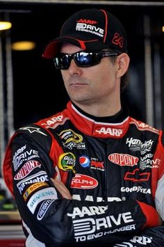 Jeff Gordon ... Or Michael W Peters wearing his driving suit!