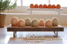 DIY egg holder for all the fresh eggs