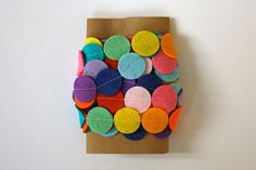 oooohhhh circle garland - cutesy ... birthday coming up ... charmaine @etsy