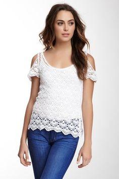 HauteLook | Vertigo: Cold Shoulder Crochet Top