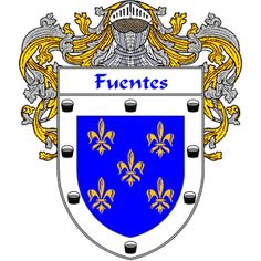 Fuentes Coat of Arms http://spanishcoatofarms.com/ has a wide variety of products with your Hispanic surname with your coat of arms/family crest, flags and national symbols from Mexico, Peurto Rico, Cuba and many more available upon request.
