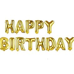 Gold Alphabet Letters Balloons Happy Birthday Party Decoration Aluminum Foil Membrane Ballon @trendingtoystore.com