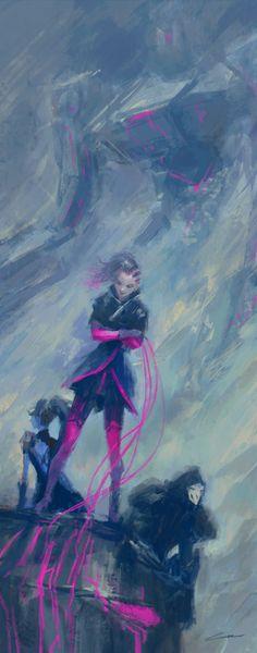 A Weapon to Surpass Bastion (Overwatch), Alex Chow on ArtStation at https://www.artstation.com/artwork/NKeAJ