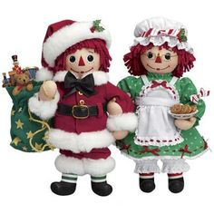 Raggedy Ann and Andy Christmas Doll - The Danbury Mint