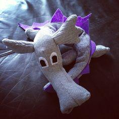 Sock dragon Find my sock animals at Facebook/bobbinsandboo