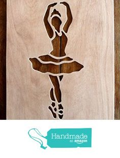 """Beautiful Large Sized Hand Crafted MDF 'Ballet Dancer' Drawing Template / Stencil - Size: 12"""" x 8.5"""" Overall (30cm x 21cm) from The Andromeda Print Emporium https://www.amazon.co.uk/dp/B01KC4AO2W/ref=hnd_sw_r_pi_dp_JuURxbF1KRQBP #handmadeatamazon"""