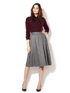 Steven Alan Claudia Gathered Waist Skirt