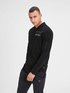 Baseball style black printed sweatshirt | JACK & JONES #menstyle #menswear