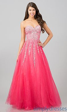 Pink Quinceanera Dresses | Strapless pink gown with rhinestones | Sweet 15 dress | Vestidos de Quinceanera | Quince fashion #quinceanera #sweet15 #vestidos