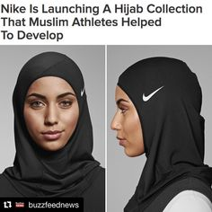 """Both professional and everyday muslim athletes helped create the Nike Pro Hijab 💪"" ! Islamic Fashion, Muslim Fashion, Modest Fashion, Hijab Fashion, Fashion Outfits, Nike Hijab, Sports Hijab, Moslem, Hijab Style Tutorial"