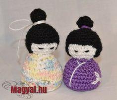 Horgolt apró játék - Kokeshi - Magyal.hu - amigurumi - horgolás Crochet Hats, Amigurumi, Creative, Knitting Hats
