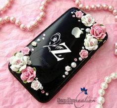Mobile Covers, Initials, Projects To Try, Girly, Shoulder Bag, Iphone, Alphabet, Pink, Bags